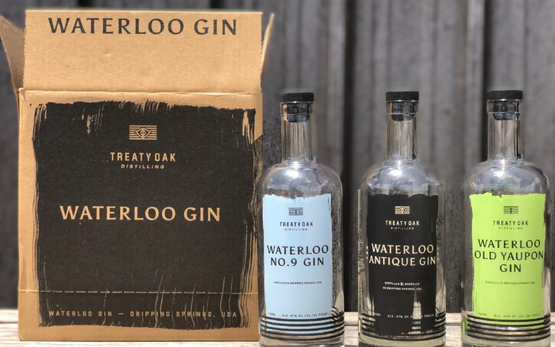 Treaty Oak Distilling Unveils Fresh New Look for its Waterloo Gin Portfolio Throughout the Great State of Texas