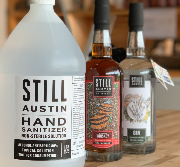 Still Austin Whiskey Co. Expects to Produce More Than 100,000 Gallons of Hand Sanitizer