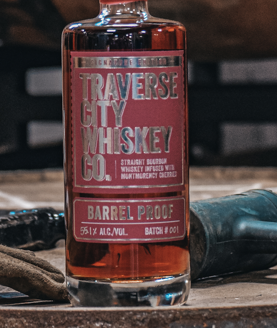 Traverse City Whiskey Co. Launches Barrel Proof Cherry Whiskey