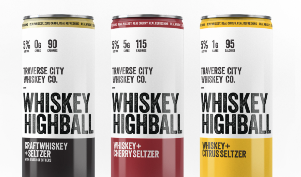 Traverse City Whiskey Co. Introduces Trio of Whiskey Highballs: Craft Seltzers Made With Real Straight Bourbon Whiskey
